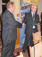New Members  - John inducted by President Paul Forsey, introduced by Martin Hanlon