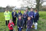 Peace Forest Ireland - Inniskeen Tidy Towns Committee planting in the church grounds