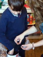 Interact Help Bellan House Pupils Plant Crocus #endpolionow - Years 3 and 4