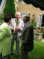 Pictures from the Past - John chats at garden party 2002