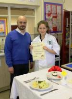 Young Chef 2014/15 - Kelly Isaac with Brian Jones, Judge and Chef-Patron at Bistro 7 in Welshpool