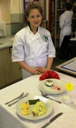 Young Chef 2014/15 - Kelly with her meal