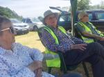 Langdale Gala - Gatekeeping - Brian Hewitt and Geoff and Anne Bowen relax in a lull between visitors' arrivals.