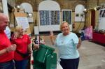 Fund raising with CAMRA - Lucky winner on the tombola