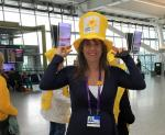 Marie Curie Collection at Heathrow T5 March 2017 - Like my hat?