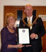 Community Awards - Mayors evening Award to Janet Morgan Jan 2014 1