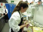 Rotary Young Chef 2015-16 - District Final Feb 2016 - Despite delays on the ferry and arriving an hour late Megan calmly gets to work and qualifies for the next round in Devon