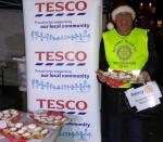 Christmas Collections - Our thanks to Tesco Hatfield for supporting our collection........and feeding Steve Northcott