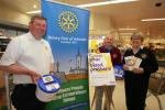 Club Photo Gallery pre July 2015 - Rotarians out in force at Morrisons in Arbroath on Saturday the 9th May 2015. 