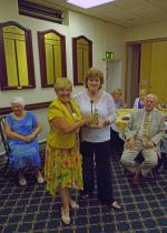 Speaker Evening - Nan is presented with the Lamplighter Award.