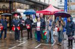 Fund Raising for Nepal - King Street St Helier in the rain!