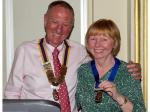 Handover Meeting - Our new President, Geoff Bigg and the First Lady Ev