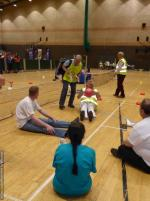 THE DISTRICT GAMES FOR THE DISABLED - Seated Volleyball