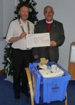 Aquabox 2012 Project - Rev. Jim McCulloch of Hurlford Parish Church with Pres. Alan Lannigan