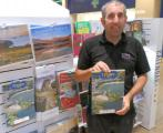 Tenby Charity Calendar on sale in Capital City - Gavin of the Calendar Club outlet, St David's Shopping Centre, Cardiff.