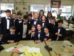 Park House School Turns Purple - Crafting purple bow ties