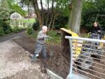 St Catherines Hospice Footbridge Construction - Path completion works north side