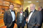 Nantwich Rotary Charter Night - Pete Mascarenhas with Sir Maurice Kay and Jon Kay our Speaker