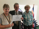 Wigan Rotary Club acknowledges Fifty Years of Service - Peter thanks his wife for her support