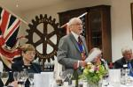 75th Anniversary Celebration - Tony gives a brief history of Pinner Rotary