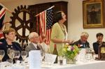 75th Anniversary Celebration - President Anne toasts the Paul Harris Fellows