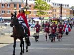 2017 St George's Day Photo Gallery - St George leads the wheelbarrow parade