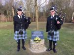 Winter Hill 60th Anniversary - Pipers at Cooill y Ree Pipe Major John Struthers (Right) and Piper Guy Pickard.