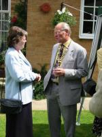 Pictures from the Past - President John chats with Cynthia 2002