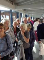 Presidents Weekend at RNLI Poole 3 - 5 October - Queueing for training