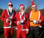 Rotary Fun Run in the park - Right to left:  Gold Medal to Tony Walker, Silver to Gary Davies and Bronze to Duncan Reaney