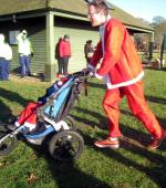 Rotary Fun Run in the park - First pushchair to finish