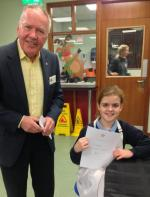 Young Chef Competition 2016 At The Market Bosworth School - Ellie receives her certificate