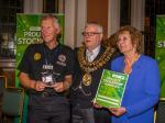 Proud of Stockport Awards 2015 - Richard receives the Mayor's congratulations