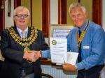 Visit by the Mayor and Mayoress of Stockport - The Speaker's Certificate.