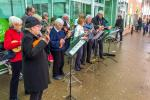 Book Givaway - The ukulele band were on hand to provide atmosphere.