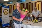 Club Assembly - A bouquet for Linda.