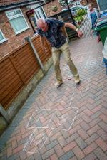President's Final Fling - Steve tries hopscotch!