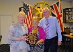 Club Assembly - The Attendance Shield is presented jointly to Barbara and Bill, who both recorded the most attendances in the year.