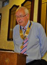 Club Assembly - Bill addresses the Club after taking over the reins.
