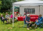Garden Party with David and Ros. -