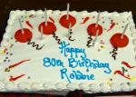 Robbie's 80th Birthday - The cake.