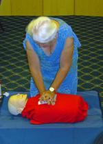 Speaker Evening - Ann shows us how to carry out CPR