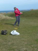 Rotary Rough Golf Weekend in Herm (18 - 20 October 2013) - The best swing in our team Jill