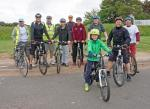 Medieval Fair - Our team of cyclists ready to start their journey.