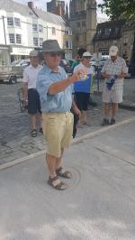 Wells Boules Tournament July 2018 - Richard L taking it in his stride