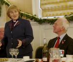 Diamond Jubilee Christmas Lunch     with Guest Speaker Right Reverend Lorna Hood  - Right Reverend Lorna Hood delivers the Christmas Speech. To her left is DG Richard Lees.