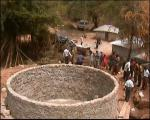 Our work providing clean water  - Building the water catchment resevoir