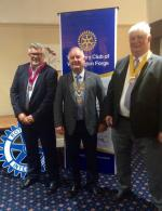 Weekly meeting at The Holiday Inn - Peter Fisher, Ron Monaghan & Roger Dale