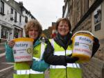 Helping the Philippines Street Collection  -Saturday 16th November 2013 - Rotarian Allison Lord and Val Honeywell