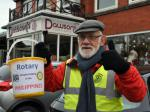 Helping the Philippines Street Collection  -Saturday 16th November 2013 - Rotarian Roland Hailwood